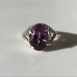 Jewelry - Vintage Amethyst Sterling Silver Ring Size 5.5